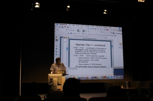 Yorick Wilks at a meeting of the Companions Project in Paris (2007)