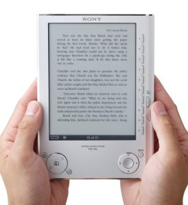 An example of eBook: the new Sony Reader (model PRS-505)